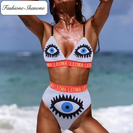 Fashione Shanone - Evil eye high waist bikini