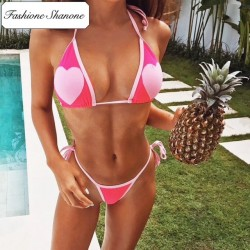Fashione Shanone - Heart triangle bikini