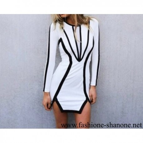 305 - White and black dress