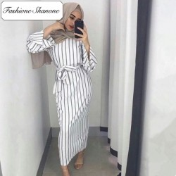 Fashione Shanone - Stripped muslim dress