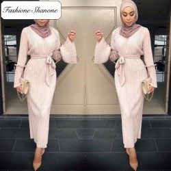 Fashione Shanone - Pleated muslim dress