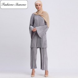Fashione Shanone - Wide gray muslim set