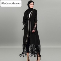 Fashione Shanone - Abaya with lace and pearls