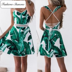 Fashione Shanone - Plam leaves dress