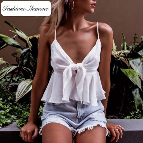 Fashione Shanone - Ruffle white top