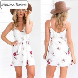 Fashione Shanone - Floral white dress