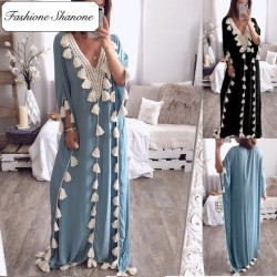 Fashione Shanone - Boho maxi dress with tassel