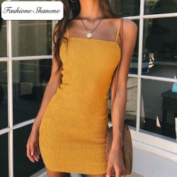 Fashione Shanone - Yellow skinny dress