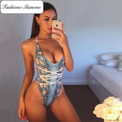Fashione Shanone - Halter one piece swimsuit