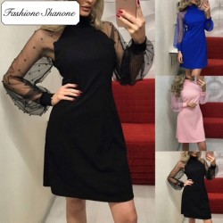 Fashione Shanone - Transparent sleeves dress