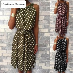 Fashione Shanone - Polka dot fluid dress