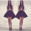 305 - Dress with clear top and ball skirt