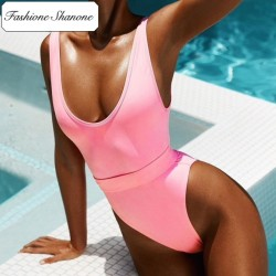 Fashione Shanone - Pink one piece swimsuit