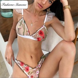 Fashione Shanone - Floral transparent lingerie set