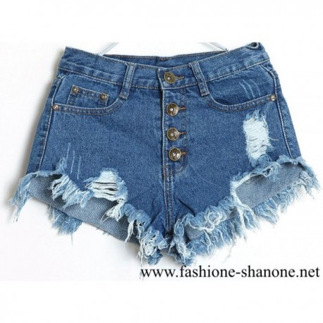 305 - High waist denim short