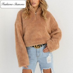Fashione Shanone - Polaire col montant camel
