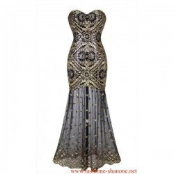 305 - Gold and black mermaid dress