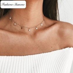 Less than 10 euros - Stars choker necklace