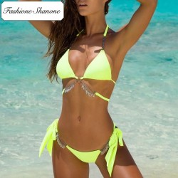 Fashione Shanone - Yellow bikini with jewelry