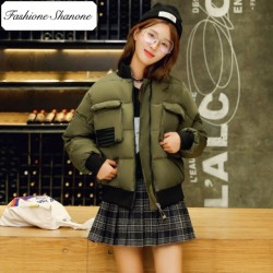 Fashione Shanone - Army green bomber down coat