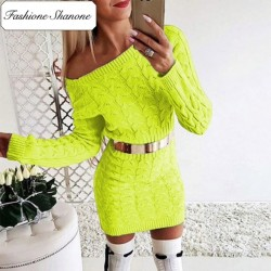 Fashione Shanone - Twisted sweater dress