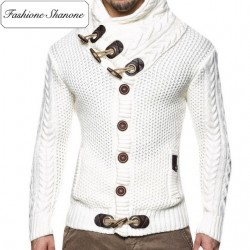 Fashione Shanone - Turtleneck buttoned cardigan