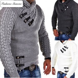 Fashione Shanone - Turtleneck twisted sweater