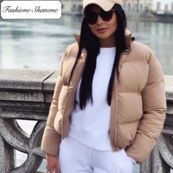 Fashione Shanone - Beige down coat