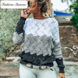 Fashione Shanone - Tricolor twisted sweater