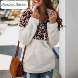 Fashione Shanone - Leopard and beige fleece