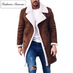 Fashione Shanone - Lambswool brown coat