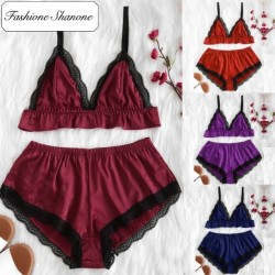 Fashione Shanone - Pyjama top et short en satin