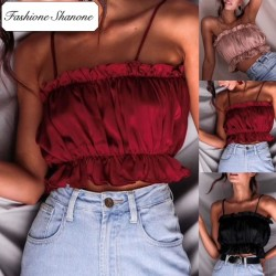 Fashione Shanone - Ruffle crop top