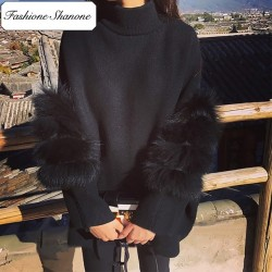 Fashione Shanone - Fur sleeves sweater