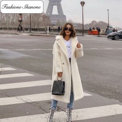 Fashione Shanone - Manteau long teddy bear
