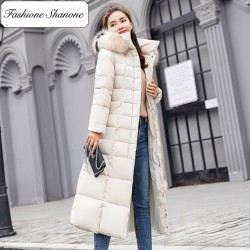 Fashione Shanone - Long parka coat with fur hood