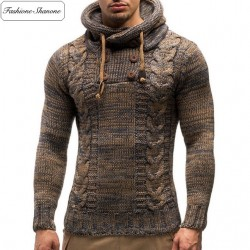 Fashione Shanone - Brown hooded sweater