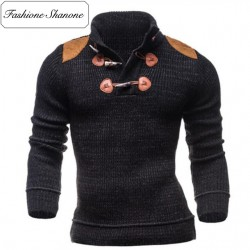Fashione Shanone - High neck sweater with shoulder pads