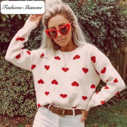 Fashione Shanone - Sweater with small hearts