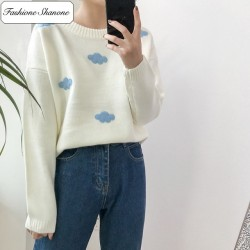 Fashione Shanone - Cloud pattern sweater