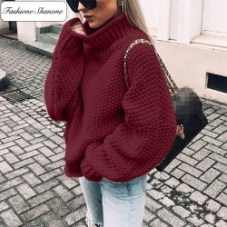 Fashione Shanone - Loose turtleneck sweater