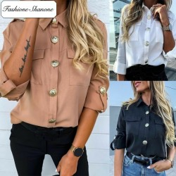 Fashione Shanone - Chemise fluide avec gros boutons