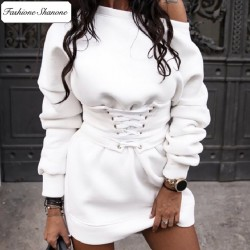 Corset sweatshirt dress