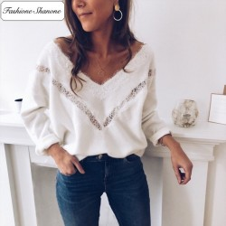 Fashione Shanone - Sweater with lace