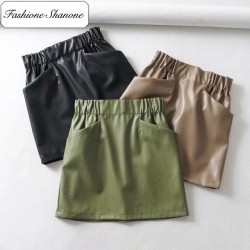 Fashione Shanone - Leather skirt
