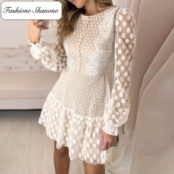 Fashione Shanone - Polka dot lace dress