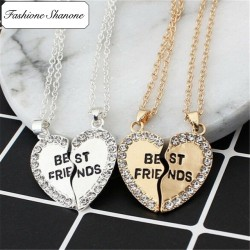 Fashione Shanone - Collier coeur en 2 best friends