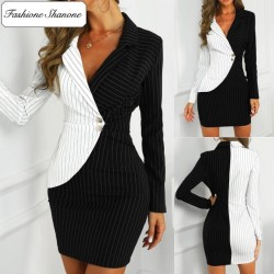 Fashione Shanone - Stripped blazer dress
