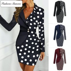 Fashione Shanone - Polka dot blazer dress