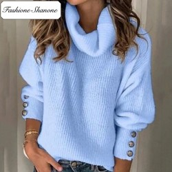 Fashione Shanone - Turtleneck blue pullover